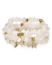 Sequin | White Color Karma Dream Star Bracelets, Set Of 3 | Lyst