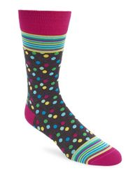 Bugatchi | Black Multi-pattern Cotton Blend Socks for Men | Lyst