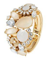 kate spade new york - Metallic Grand Bouquet Bangle Bracelet - Lyst