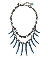 Sequin | Blue Athena Pave Statement Necklace | Lyst