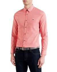 Ted Baker | Red Thewolf Micro Tile Print Shirt for Men | Lyst