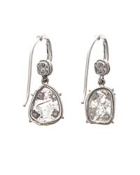 NSR Nina Runsdorf - Metallic Diamondslice Whitegold Earrings - Lyst
