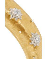 Buccellati | Metallic 18k Yellow Gold And Diamond Iconia Classica Cuff | Lyst