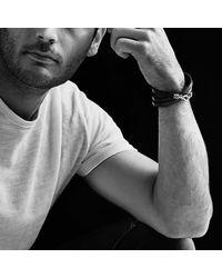 David Yurman - Chevron Triple-wrap Bracelet In Brown Leather for Men - Lyst