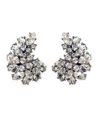 Ben-Amun | Metallic Crystal Crescent Earrings | Lyst