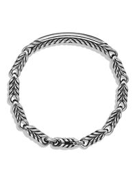 David Yurman | Metallic Chevron Id Bracelet With Black Onyx for Men | Lyst