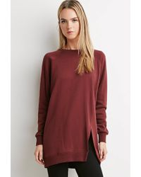 Forever 21 - Purple Contemporary Longline Sweatshirt Tunic - Lyst
