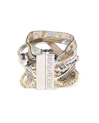 Hipanema | Metallic Silver And Gold Tone Embellished Cuff | Lyst