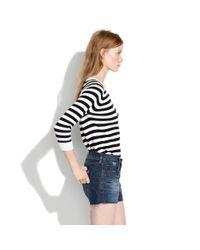 Madewell Blue Denim Cutoff Shorts In Wave Wash