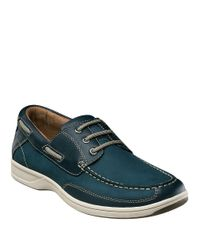 Florsheim Blue Lakeside Leather Oxford Boat Shoes for men