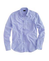 J.Crew | Blue Slim Secret Wash Shirt In End-on-end Cotton for Men | Lyst