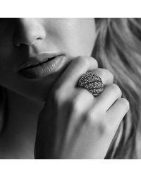 David Yurman - Black Hampton Cable Ring With Diamonds - Lyst