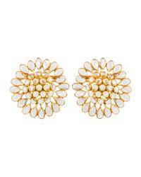 Kastur Jewels | Metallic Crystal Slice Large Stud Earrings | Lyst