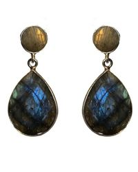 Adornia | Blue Labradorite And Sterling Silver Maria Earrings | Lyst
