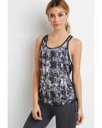 Forever 21 - Black Abstract Print Tank - Lyst