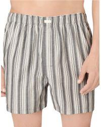 Calvin Klein | Gray Checked Boxer Shorts for Men | Lyst
