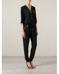 MICHAEL Michael Kors Blue Zip Jumpsuit