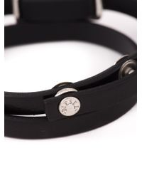 DIESEL - Black Logo Plaque Bracelet for Men - Lyst