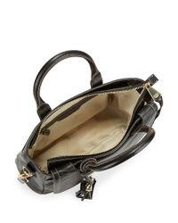 Aimee Kestenberg Black Kira Pebbled Leather Satchel