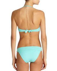 Elizabeth Hurley Beach Blue Carla Bandeau Bikini Top