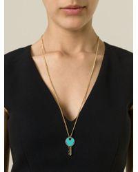 Marc By Marc Jacobs | Blue Key Pendant Necklace | Lyst