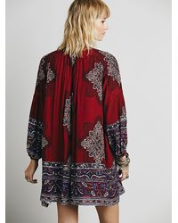 Free People | Red Moonphase Printed Mini | Lyst