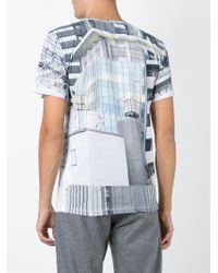Etudes Studio Blue Building Print T-shirt for men