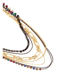 Iosselliani - Multicolor Marquise Cut Crystal Multi Chain Necklace - Lyst