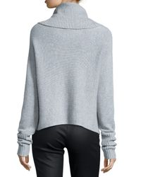 Eileen Fisher - Gray Cashmere Cowl-Neck Sweater - Lyst