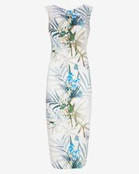 Ted Baker | Blue Loua Twilight Floral Midi Dress | Lyst