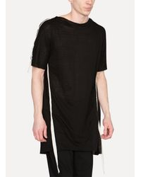 Cedric Jacquemyn - Black Short Sleeved Side Taped Shirt for Men - Lyst