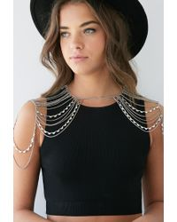 Forever 21 | Metallic Layered Shoulder Chain | Lyst