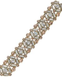 Kate Spade | Metallic 12K Gold-Plated Mixed Crystal Bracelet | Lyst