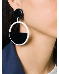 Marni - Black Half-circle Clip-on Earrings - Lyst