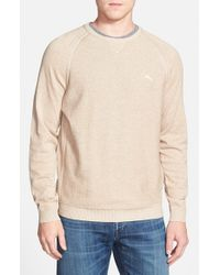 Tommy Bahama - Gray 'barbados Crew' Pullover Sweater for Men - Lyst