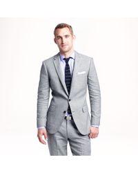 J.Crew Gray Ludlow Suit Jacket In Italian Linen-cotton for men