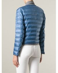 Moncler - Blue Lissy Quilted Shell Down Jacket - Lyst