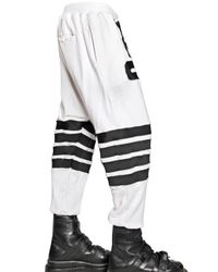 KTZ White Embroidered Cotton Jogging Trousers for men
