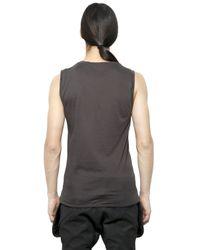 Alexandre Plokhov Gray Sleeveless Fine Cotton T-Shirt for men
