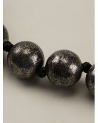 Lanvin - Gray Pearl Necklace - Lyst