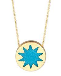 House of Harlow 1960 - Blue Mini Sunburst Pendant Necklace - Lyst