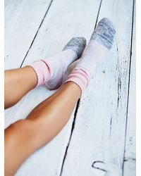 Free People | Pink Womens Cecilia Colorblock Boot Sock | Lyst