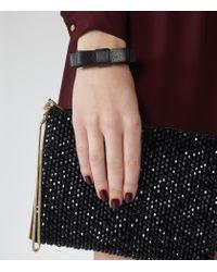 Reiss | Black Daphne Leather Bracelet | Lyst