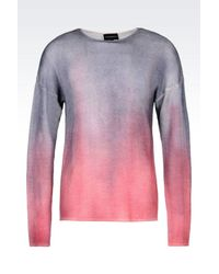 Emporio Armani - Pink Jumper In Virgin Wool for Men - Lyst
