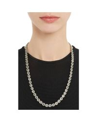 Munnu - Metallic Aquamarine & Diamond Necklace - Lyst