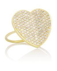 Jennifer Meyer - Metallic 18-Karat Gold Diamond Heart Ring - Lyst