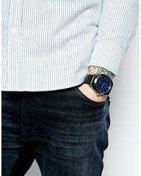 Ben Sherman Black Leather Look Strap Watch Bs044 for men