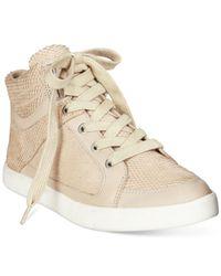 Calvin Klein Natural Lyda High Top Sneakers
