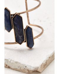 Forever 21 - Blue Cutout Faux Stone Cuff - Lyst