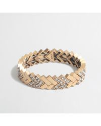 J.Crew | Gray Factory Golden Chevron Bracelet | Lyst